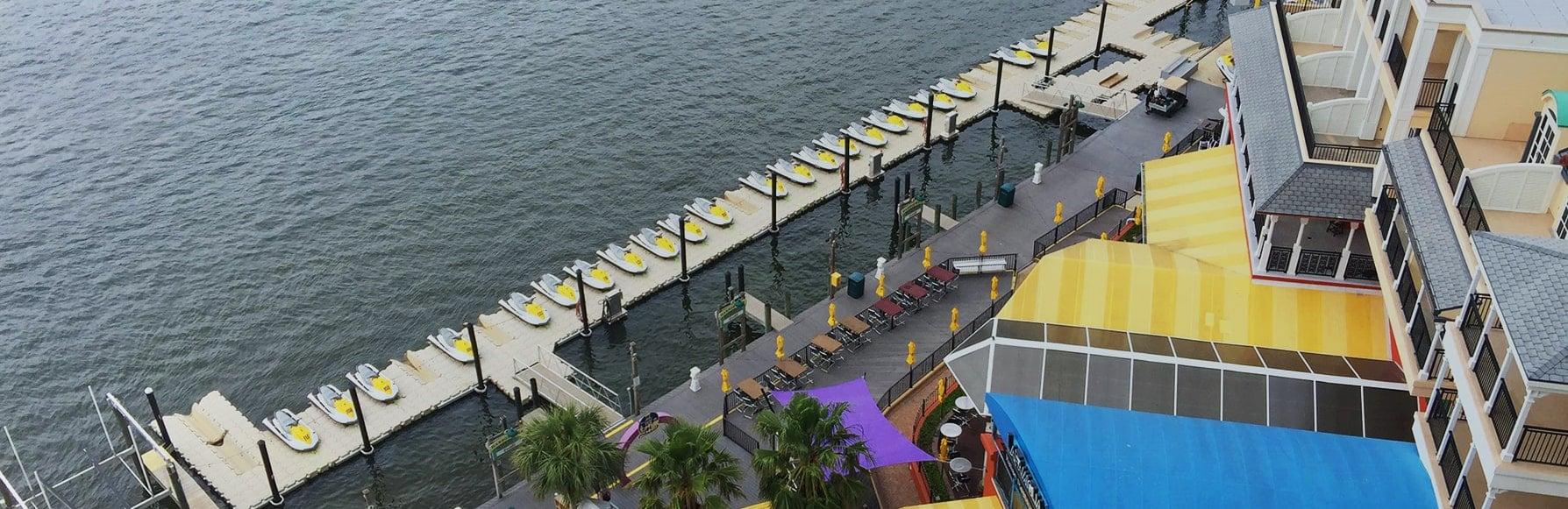 Floating docks - Modular Plastic Floating Dock   Candock