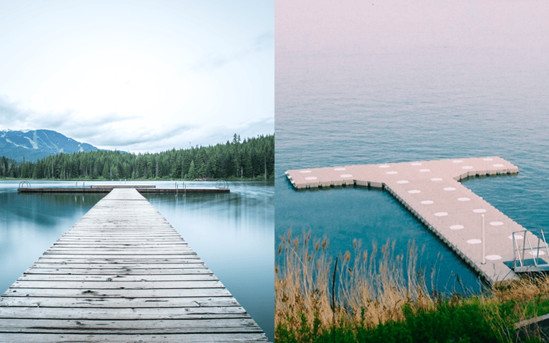 differences between a floating dock and a stationary dock